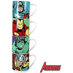 Marvel Comics apilamiento de café conjunto de 4 Acción de cerámica héroes
