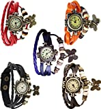 Red Apple butterfly watch Combo of 5- RA...