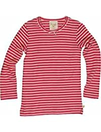 3906d502a1 Frugi Girls Raspberry Pink Long Sleeved Striped Top