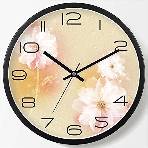 WERLM Salon élégant Horloge murale Horloge creative chambre salon chambre à coucher horloge murale mute réveil horloge murale quartz noir, devrait être de 20 cm