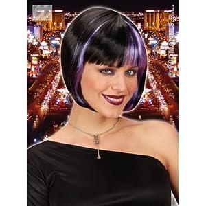 WIDMANN Peluca Zoey negra-violeta adulto Cualquier día