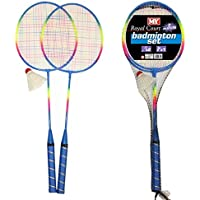 NEW 2 PLAYER BADMINTON SET WITH RACKET NET SHUTTLECOCK OUTDOOR GARDEN GAME SPORT