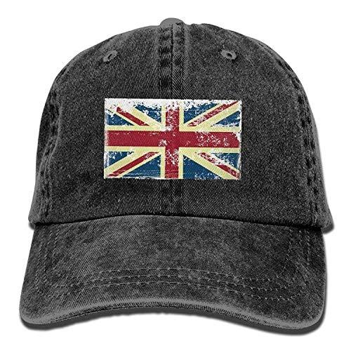 Presock Adjustable Baseball Caps British Flag Cowboy Style Trucker Cap Low-profile Wall Mount Rack