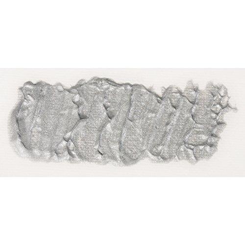 Rayher Hobby 38937606 Künstlerfarben, Acrylfarbe, silber, 6,9 x 6,9 x 8,5 cm