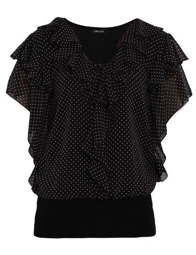 Morgan - Tunique - À Pois - Femme Noir(Noir/Blanc)