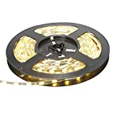 XKTTSUEERCRR 5M 5630 Super Schmal LED Strip 300 LEDs 4mm Breite Schwarz-PCB IP65 Wasserdicht Streifen LED Leiste (Warmweiß)