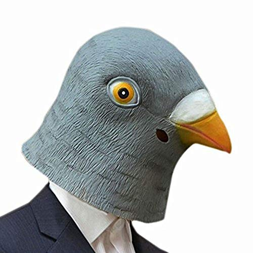 Hengbaixin Kreative Taubenmaske 3D Latex Riesen Vogel Kopfmaske Tier Cosplay Kostüm Party Halloween Theater Rep Masken