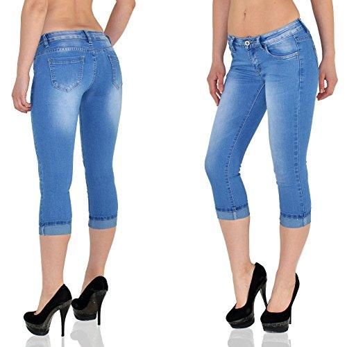by-tex Damen Capri Hose Damen Caprihose Damen Jeans Capri bis Übergröße J242 _ J242