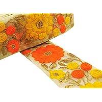 Craft material de la tela bordada recorte de 6,35 cm de suministros de costura ancha de encaje por el astillero
