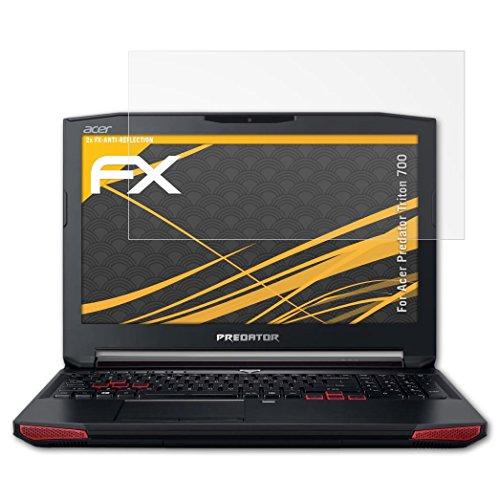 atFolix Panzerfolie kompatibel mit Acer Predator Triton 700 Schutzfolie, entspiegelnde & stoßdämpfende FX Folie (2X)