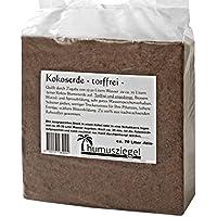 70 litri di terriccio in fibra di cocco per utilizzo interno ed esterno – privo di torba e concimi – blocco da 5 kg – Terriccio per frutta, verdura, piante ornamentali ed esotiche – fine