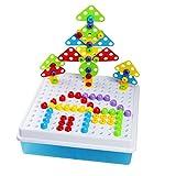 Mosaik Steckspiele 3D 4 in 1 Kreatives Puzzlespiel DIY Bausteine Versammlung Intelligenz Spielzeug für Kinder,189 Stücke hergestellt von TLH FACTORY