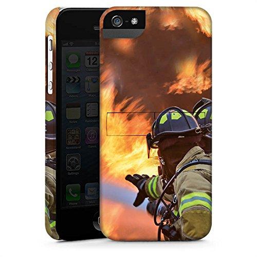 Apple iPhone X Silikon Hülle Case Schutzhülle Feuerwehrmann Einsatz Firefighter Premium Case StandUp