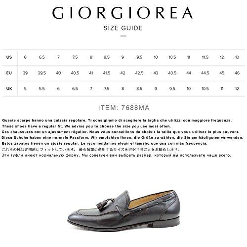 Giorgio Rea Mocassini Uomo Marroni Eleganti Scarpe Uomo Artigianali Fatte a Mano in Italia Marrone