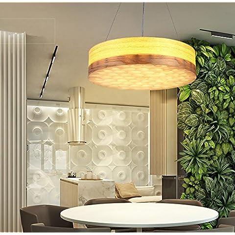 FWEF Aleación De La Técnica De Madera Lámparas De Oficina Nórdica Restaurante Cafe De La Personalidad Creativa Lámparas De Madera En Rollo
