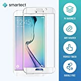 [3D Curved | White] Glass Screen Protector for Samsung Galaxy S6 Edge by smartect® | 0.3mm Ultra-Thin Shield Protector | Premium Tempered Glass 9H Hardness with Anti Fingerprint Coating
