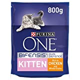 Purina ONE Kitten Dry Cat Food Chicken and Wholegrain 800g - Case of