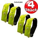 4x Sicherheits Reflektorbänder Reflektorstreifen LED Fahrrad Sicherheits Armreflektoren 23x 2