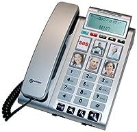 Le téléphone Geemarc Photophone 200 est un téléphone amplifié conçu pour les personnes séniors, malvoyantes et malentendantes, désirant un téléphone plus pratique et fonctionnel. En effet, il possède 6 touches photos et un mains libre , avec des volu...