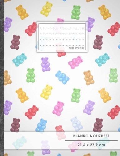 """Kinder Für Weiße Blanko-bücher (Blanko Notizbuch • A4-Format, 100+ Seiten, Soft Cover, Register, """"Gummibären"""" • Original #GoodMemos Blank Notebook • Perfekt als Zeichenbuch, Skizzenbuch, Sketchbook, Leeres Malbuch)"""