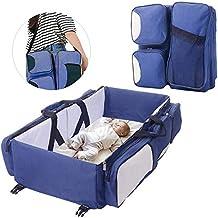 Bolso cambiador multifuncional 3 en 1 para bebé, cuna de viaje, cama de pañales