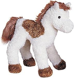 Cuddle Toys 176323cm de Largo, diseño de Lunares, Color marrón y Blanco Caballo de Peluche
