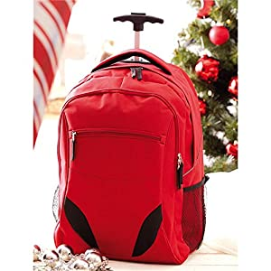 Day-Pack Rucksack Trolley with Padded Laptop Compartment 34 x 52 x 28 cm with 2 Side Mesh Pockets Red from Vertrieb durch Preiswert & Gut