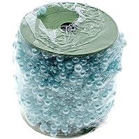 Yuloen - Rollo de cadena de perlas de 60 m para decoración de flores, color azul