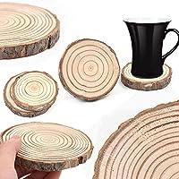PUAK523 Posavasos Redondo, Posavasos de Madera Natural, Posavasos, Taza de té, café