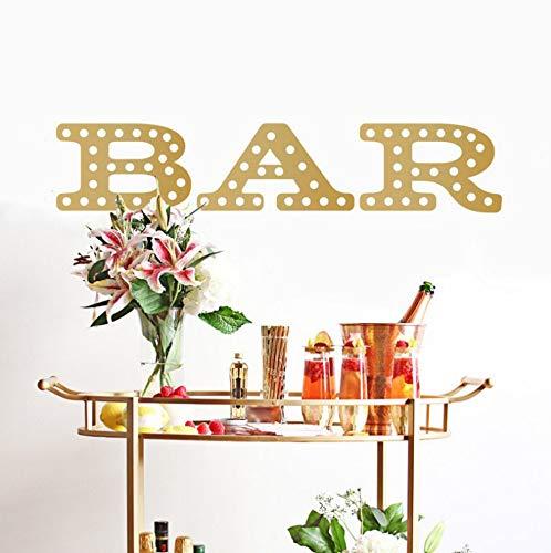 shiyusheng Bar Marquee Sign Decal - benutzerdefinierte Vinyl Kunst Aufkleber - Aufkleber für Hochzeiten, Restaurants, In Home Bars,Barwagen, Küchen91x18cm (Benutzerdefinierte Schwarze Auge Aufkleber)