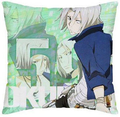 uk-jewelry personnalisé Anime japonais Katekyo Hitman Reborn Cartoon pillowslip Taie d'oreiller zippée Protection d'écran imprimé double face de luxe 45,7x 45,7cm
