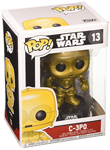 Funko - Star Wars C- 3PO Pop 10 cm Bobble Head Wackelkopf Figur (Wars Star Wackelkopffigur)