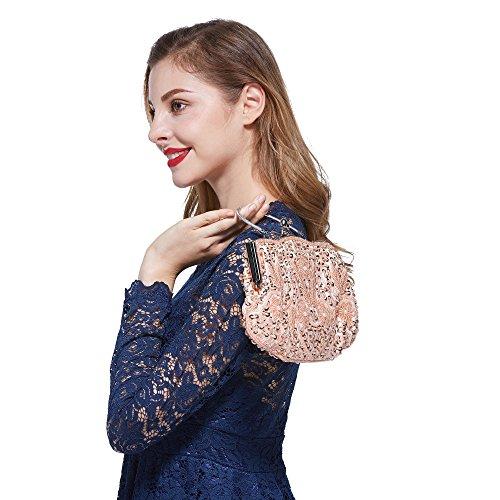 VENI MASEE®® vogue einfache Party clutch bag, Abschlussball Abend Handtasche, Geschenkideen - Farben verschiedenen, Preis / Stück Pink2