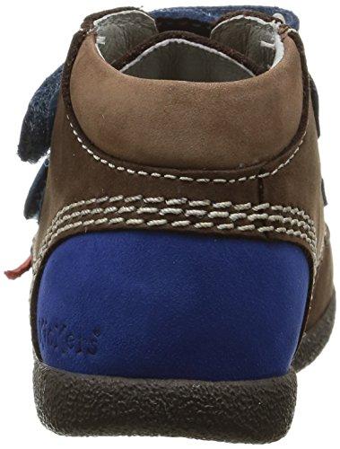 Kickers Babyscratch, Chaussures Bébé marche mixte bébé Marron (Marron Foncé/Bleu)