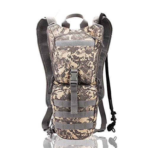 Wasser Camouflage 3L Wandern Wasser Lagerung Tasche tragbar wasserdicht Rucksack Outdoor Reisen Bergsteigen Radfahren Camping Water Pack ACU