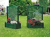 KHW Pflanzkasten groß mit ZentralSpalier 100 cm grün 2er Set