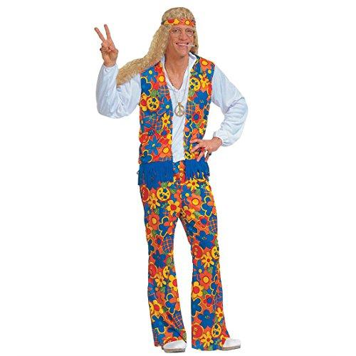 Blumen Hippie Kostüm 70er Jahre Herrenkostüm L (52) Flower Power Hippiekostüm Fasching Blumenkostüm Faschingskostüm Woodstock Karnevalskostüm Retro Mottoparty Verkleidung Karneval Kostüme Männer