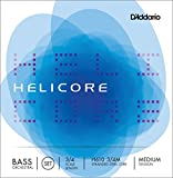D\'Addario Bowed Jeu de cordes pour contrebasse orchestre D\'Addario Helicore, manche 3/4, tension Medium