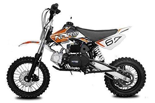 Dirtbike Storm 125cc 14/12 4-Gang Manual mit Kick-Start Crossbike Minibike Kinderbike (Orange)