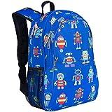 Wildkin Children's Backpack with Side Pocket - Robots Mochila Infantil, 41 cm, 3 Liters, Azul (Blue)