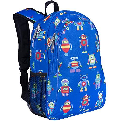 45916cda18 Wildkin Children s Backpack with Side Pocket - Robots Mochila Infantil
