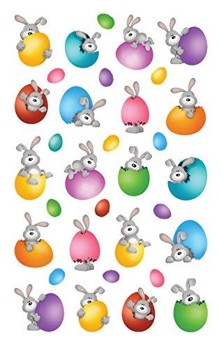 Avery Zweckform 39152 Oster Sticker (Ostereier, Osterhasen, Geschenk für Kinder, zum Basteln oder für Osterdeko) 40 Osteraufkleber