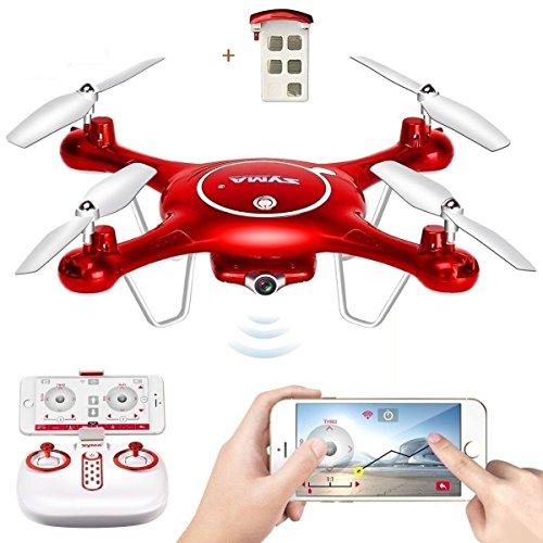 Preisvergleich Produktbild Syma X5UW WiFi UFO FPV Drohne mit HD Kamera Live-Übertragung + BONUS AKKU 2.4G 6 Axis RTF RC Headless Quadropter APP KONTROLLE Flug von TIME4DEAL