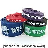 Bandes de Résistance en Caoutchouc - Bandes Élastiques D'entraînement WOD Nation | Bande Rouge de 5 a 16 kg de Résistance