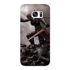 Impressive Warrior Sword Multicolor Back Case Cover for Galaxy S7 Edge