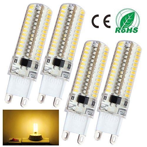 Liqoo® 4x G9 4W LED Lampe 320Lumen Ersetzt 30W Leuchtmittel Energiesparlampe Warmweiß 3000K , Ø16 x 60mm, 104x 3014 SMD,360º