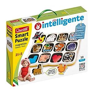 Quercetti 0230 Smart - Puzzle magnético, diseño Animales de Granja