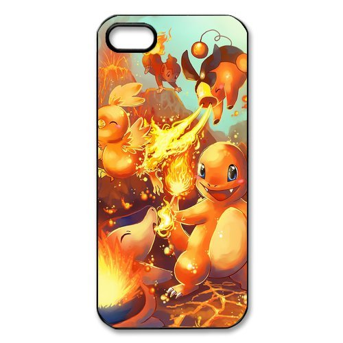 iPhone 5S Coque, Pokemon Pikachu Series Étui pour Apple iPhone 5 5S Case Cover Coque en silicone skin Housse Coque Shell de protection pour iPhone 5 5S