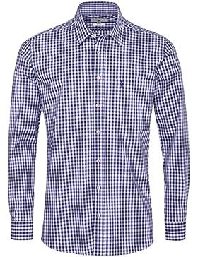 Almsach Trachtenhemd Ben Regular Fit in Blau inklusive Volksfestfinder