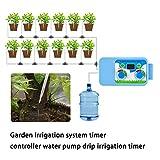TUANMEIFADONGJI Timer Irrigation Controller Set Micro Drip Watering Timer Elettronico Sistema di irrigazione per Giardino Pompa Irrigazione Controller per Home Office Fiori in Vaso Irrigazione